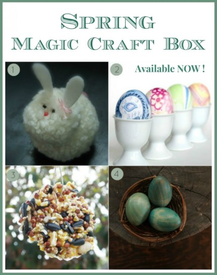 Natural Crafts in the Spring Magic Craft Box : www.theMagicOnions.com