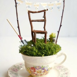 Tea Cup Fairy Garden : Tutorail