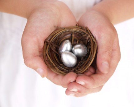 Silver Easter Nest : www.theMagicOnions.com