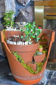 Fairy Garden in a Broken Terracotta Flower Pot : Fairy Garden Contest : The Magic Onions.com