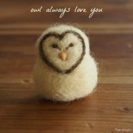 Needle Felted Owl : DIY Tutorial – it's easy!