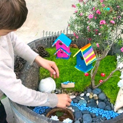 : Painted Fairy House for the Fairy Garden : The Magic Onions : www.theMagicOnions.com