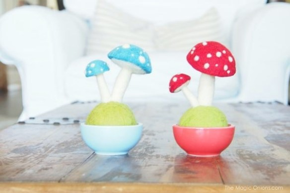 White Needle Felted Toadstool Pot :  https://themagiconions.com/shop/