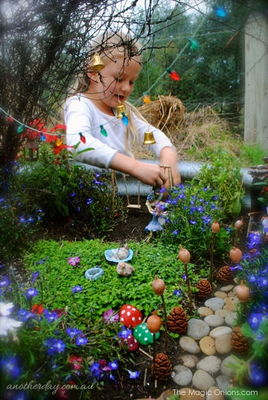 Kid Friendly Fairy Garden : Fairy Garden Contest : www.theMagicOnions.com
