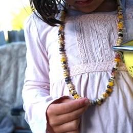 Make a Colorful Harvest Corn Necklace