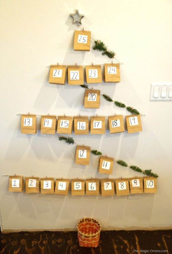 DIY Christmas Tree Advent Calander : www.theMagicOnions.com