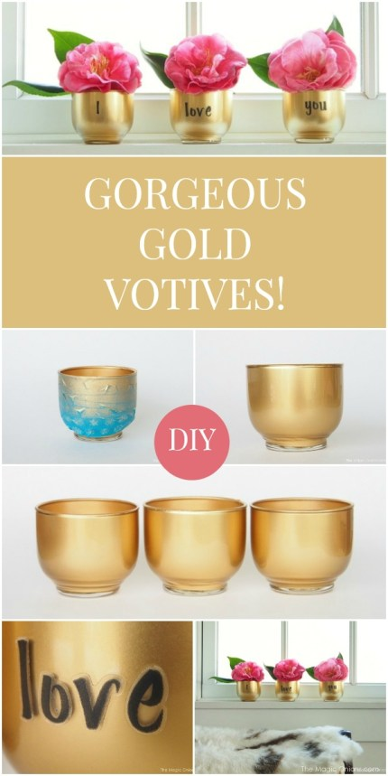 Make gorgeous GOLDEN votives in just a few easy steps with this fun tutorials from The Magic Onions