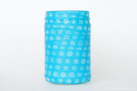 diy gold spray paint mason jar craft photo