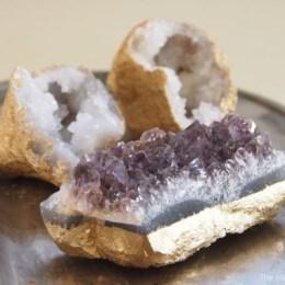 Golden Geodes and Crystals : DIY Tutorial