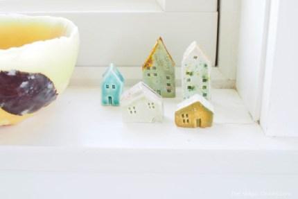 miniature clay houses photo
