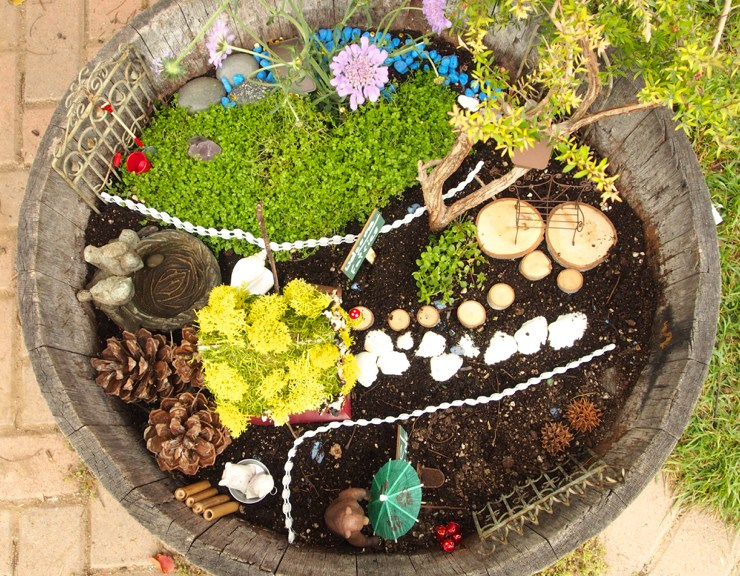 magical fairy garden photo