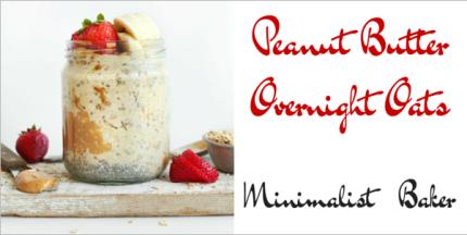 photo of overnight peanut butter oats