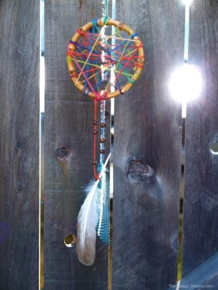 DIY Rainbow Dream Catcher Tutorial Photograph : www.theMagicOnions.com