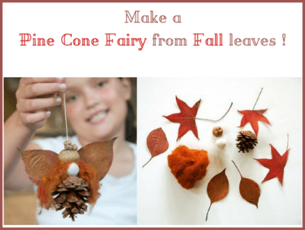 DIY Tutorial to make a Pine Cone Fairy with Fall Leaves : www.theMagicOnions.com