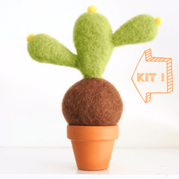 Needle Felted Cactus Pot Tutorial