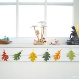 Felt Leaf Garland :: DIY Tutorial