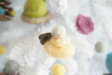 Needle Felted Fairy Christmas Tree Ornaments : www.theMagicOnions.com