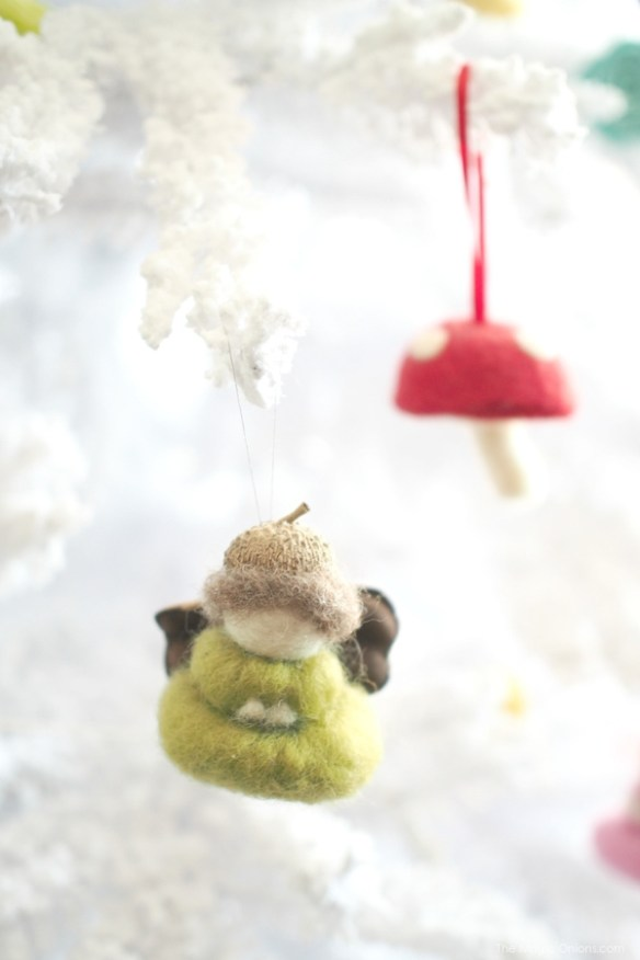 Needle Felted Gnome Christmas Tree Ornaments : www.theMagicOnions.com
