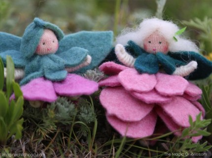 Waldorf Felt Flower Fairies for Spring :: The Magic Onions Blog