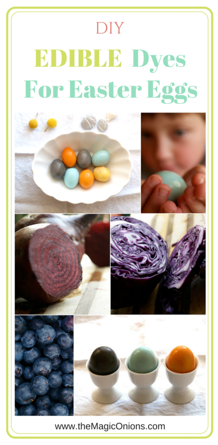Edible Natural Dyes for Easter Eggs :: DIY Tutorial :: www.theMagicOnions.com