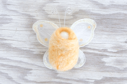 Make delightful FAIRY BABIES for your little ones with this easy DIY NEEDLE FELTING tutorial on The Magic Onions blog