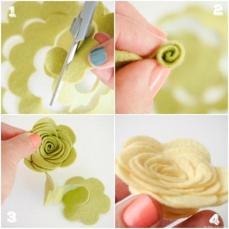 Make beautiful Felt Flowers in a few simple steps DIY Tutorial with The Magic Onions Blog