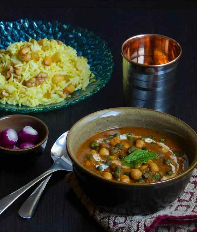 Channa Masala (With capsicum and cream)
