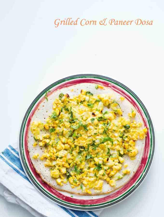 Grilled Corn & Paneer Dosa