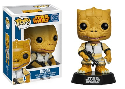 "Bossk (meaning ""Devours His Prey"" in Dosh) was a male Trandoshan bounty hunter who was the pilot of the Hound's Tooth and held the title of monarch of the Qotile system."
