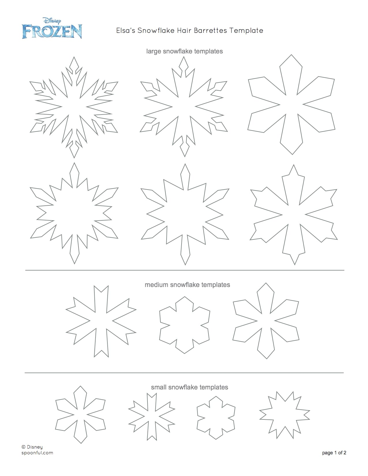 How To Draw A Snowflake From Frozen : snowflake, frozen, Snowflake, Barrettes!, Make!, Street, Mouse