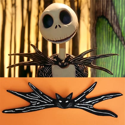 jack skellington inspired bow tie or hair clip the main street mouse
