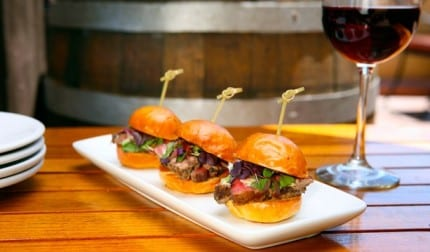 Trio-of-Beef-Tenderloin-Sliders-with-Wine-613x359