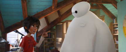 """BIG HERO 6"" — Pictured (L-R): Hiro & Baymax. ""Big Hero 6"" is in theaters Nov. 7, 2014. ©2014 Disney. All Rights Reserved."