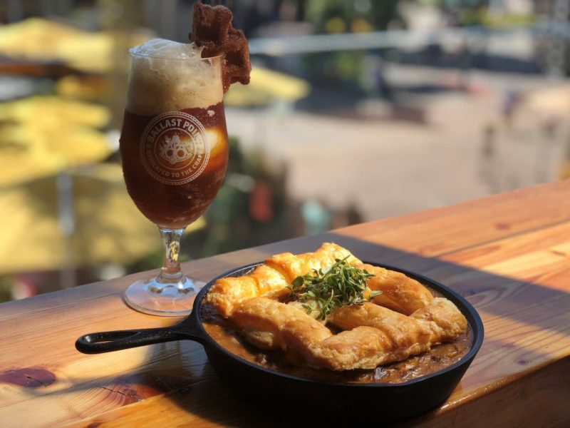 Short Rib Pot Pie and Pumpkin Down Ale from Ballast Point Brewing Company at the Downtown Disney District at Disneyland Resort