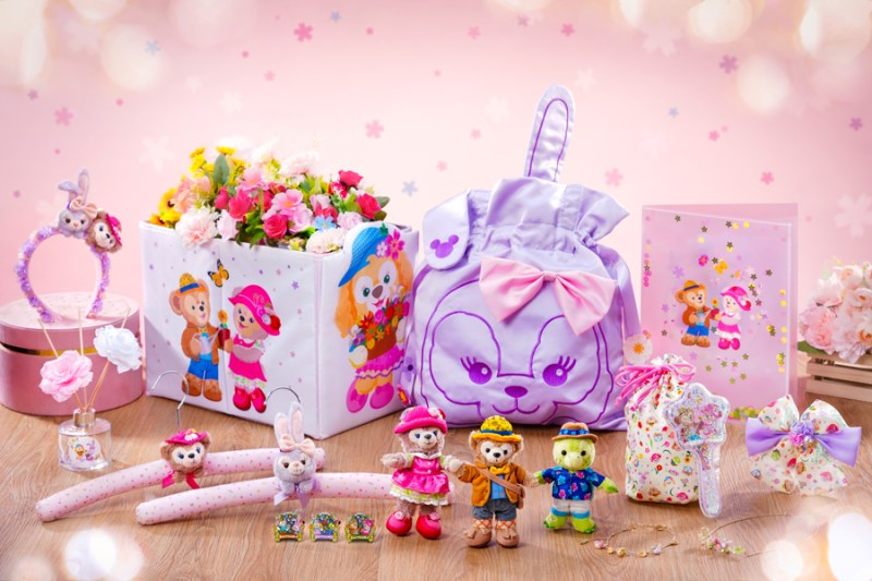 Duffy and Friends Sweet Sweet Friends Collection featuring keychains, plush, a headband, stationery, accessories, home decorations