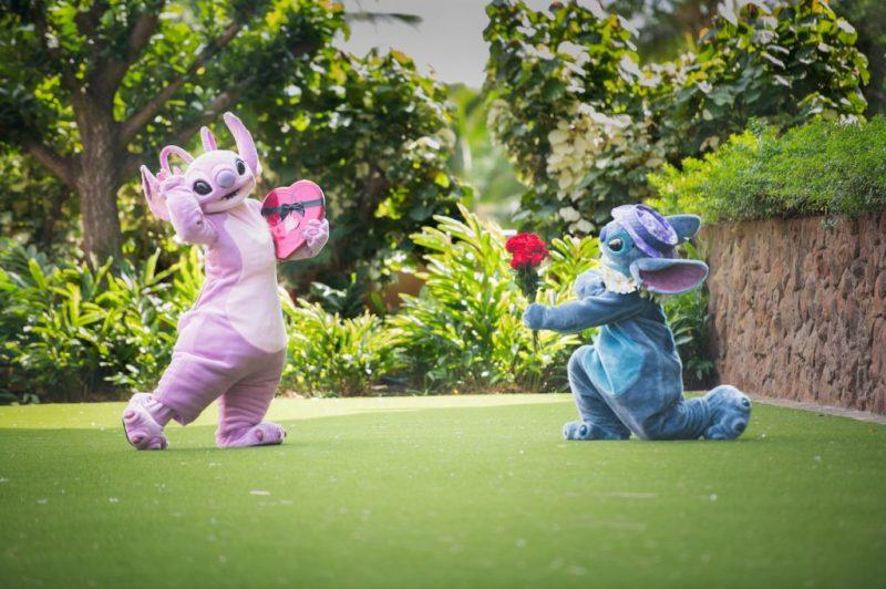 Angel and Stitch at Aulani, A Disney Resort & Spa