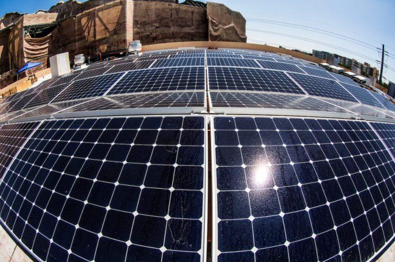 Solar panels at Disneyland Resort