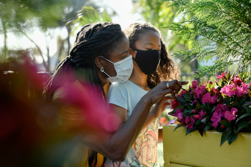 Flowers along the Health Full Trail presented by AdventHealth at Taste of EPCOT International Flower & Garden Festival