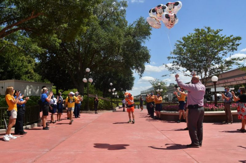 Don Muchow approaching Magic Kingdom Park