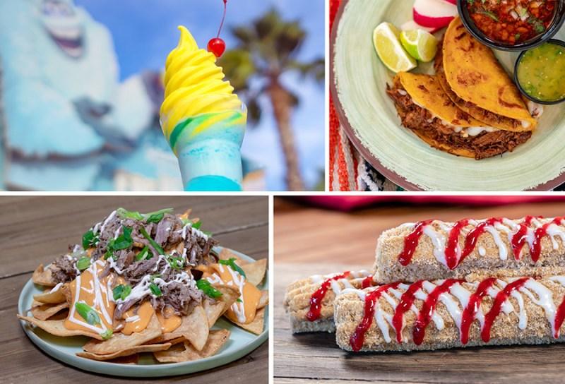 Adorable Snowman Pixar Pier Parfait, Cocina Cucamunga Queso Birra Street Tacos, Studio Catering Co. Pork Nachos, Hollywood Churro Strawberry Cheesecake Chrurro