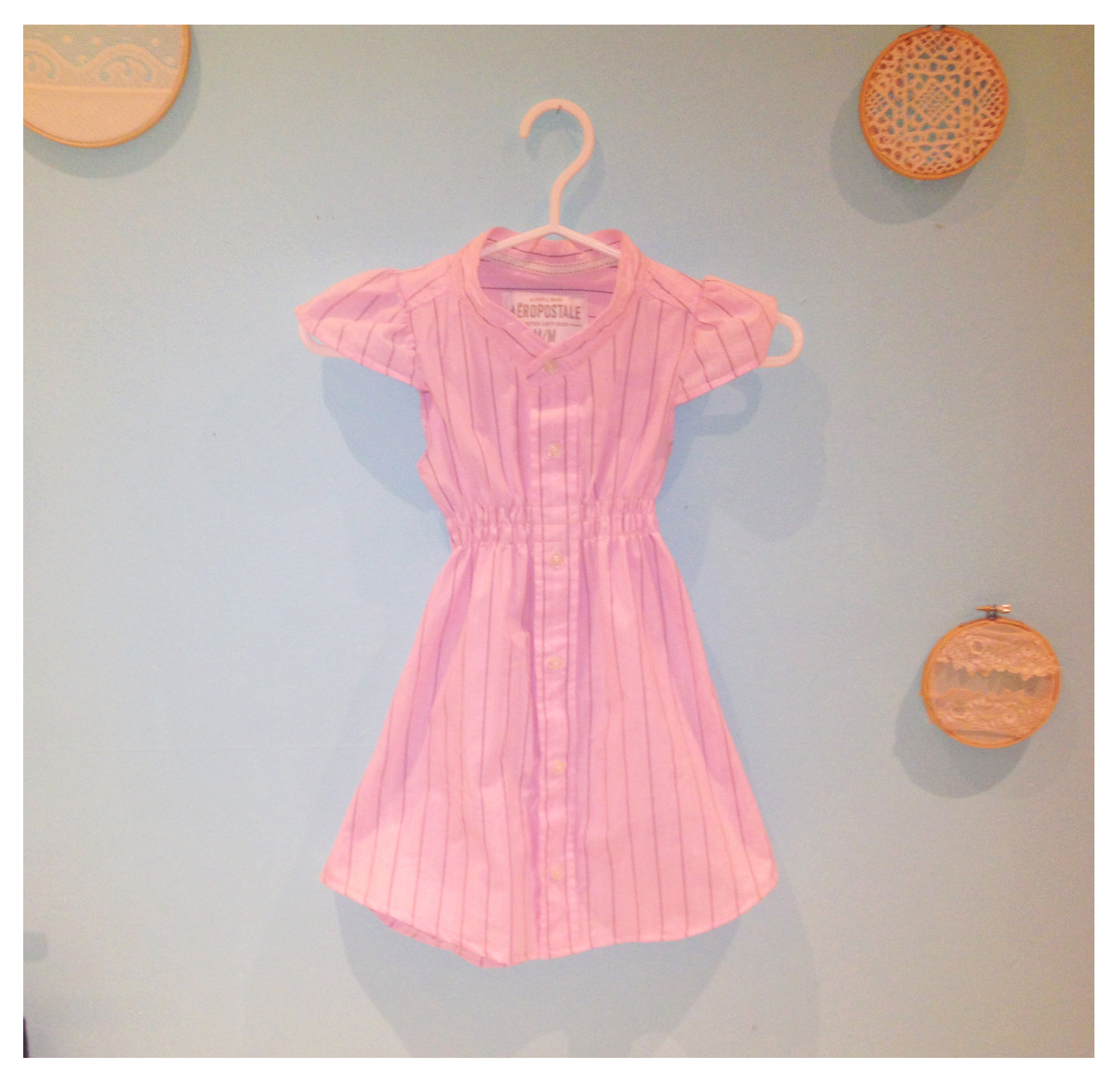 14ddcc453f5c This upcycled children's dress was made from a mens dress shirt. With  shirring added to cinch the waist, the entire project was completed in a  matter of ...