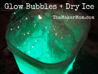How to glow bubbles and dry ice explosions
