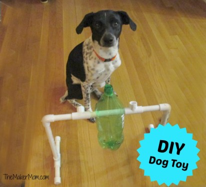 Dog Treat Dispenser Toy from www.TheMakerMom.com