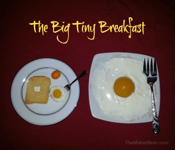 The Big Tiny Breakfast. Don't miss these four family-friendly April Fools pranks on TheMakerMom.com