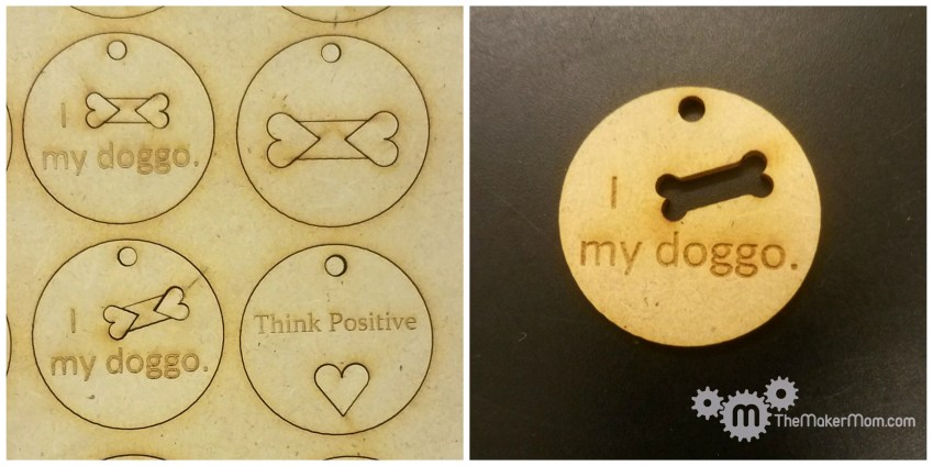 laser cut dog keychains