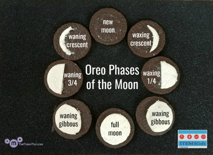 learn moon phasese with Oreo cookies on TheMakerMom.com
