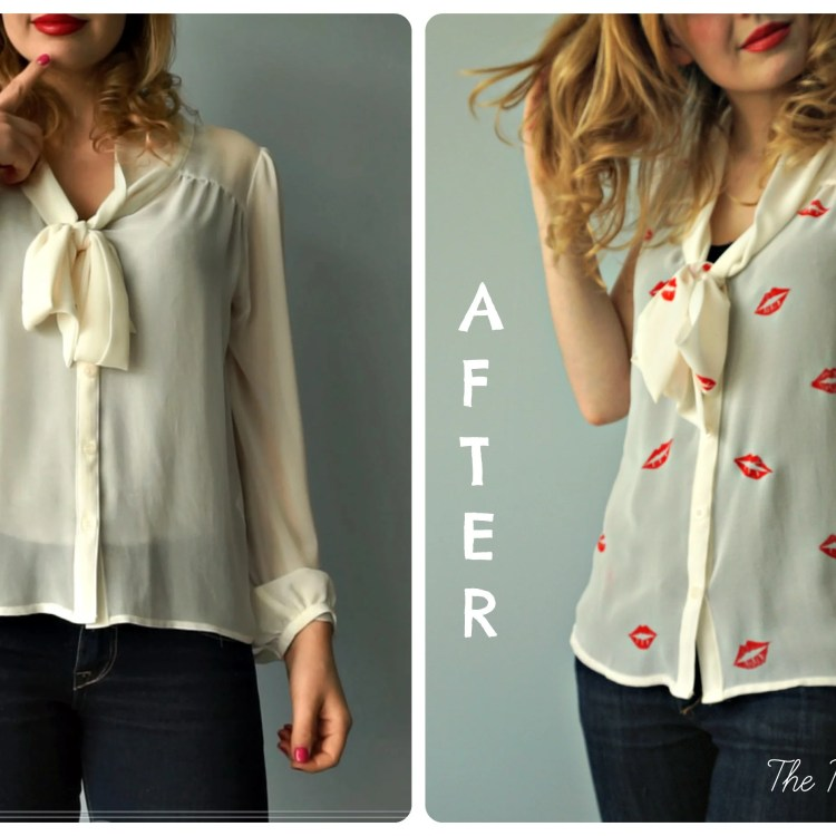 How to make your own DIY Lip Blouse {Before & after} by The Makeup Dummy