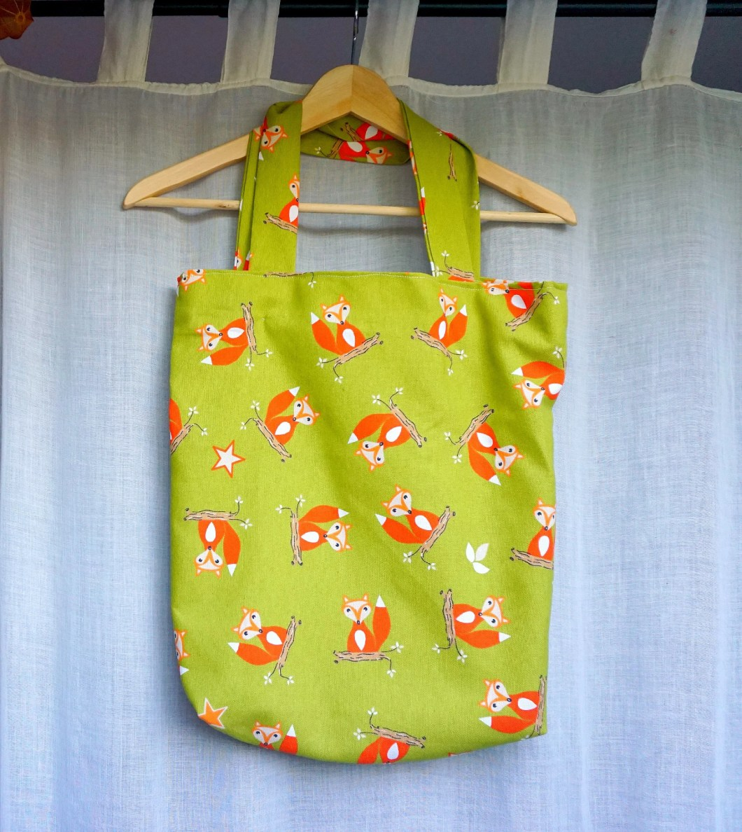 DIY Fox Tote Bag for Fall