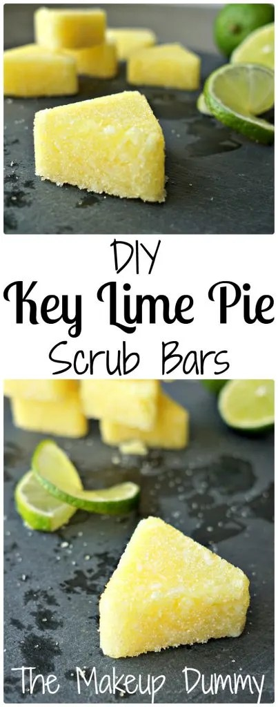 These Easy Sugar Scrub Bars smell amazing! How To make your own DIY Key Lime Pie Soap Scrub Bars by The Makeup Dummy