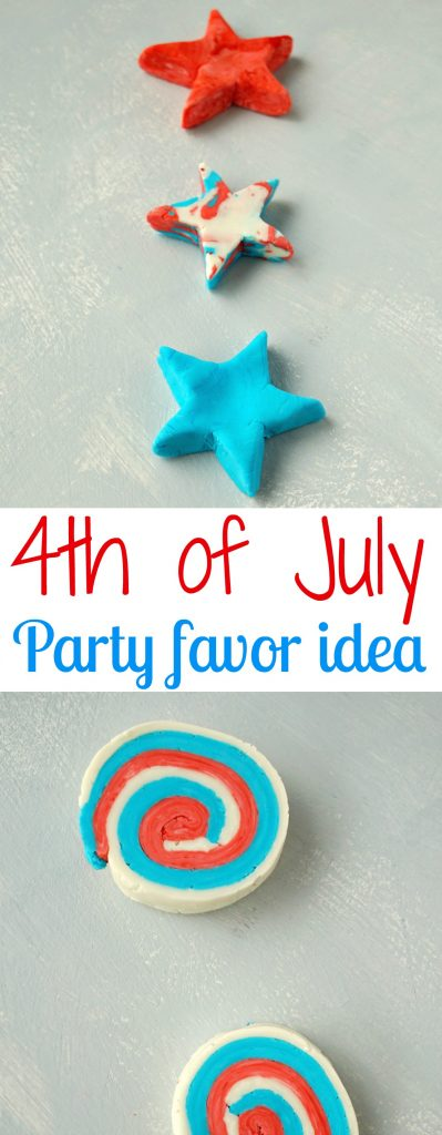 Easy and fun activity to play with kids! Make your own Play Dough Soap Bars! Great 4th of July party favor idea! How To make your own DIY Soap Play Dough Bars. Tutorial by The Makeup Dummy